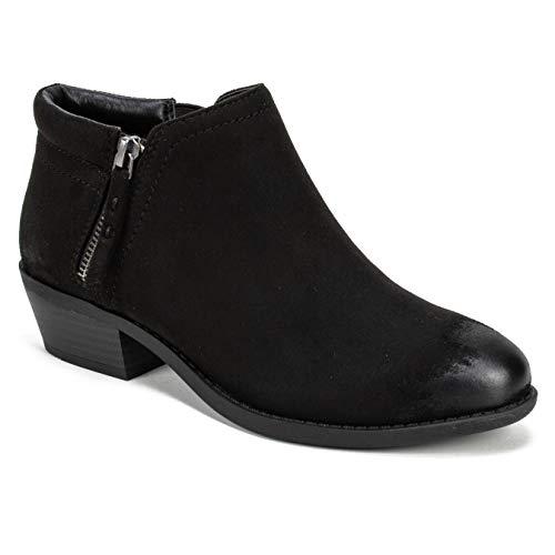 WHITE MOUNTAIN Women's Dandy Ankle Boot, Black/Fabric, 7.5 M (Womens Mountain Ankle Boot)