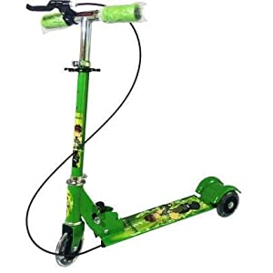 Gopal Sales Kids 3 Wheel Foldable Scooter Cycle with Height Adjustment & Led Light on Wheel with Break and Bell for Boys…