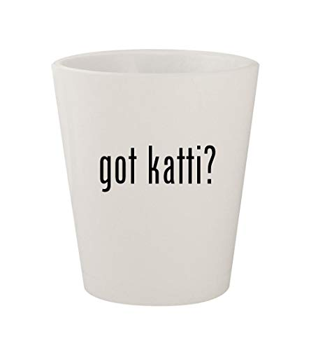 got katti? - Ceramic White 1.5oz Shot Glass