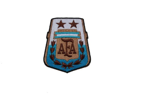 Argentina AFA Logo FIFA Soccer World Cup Flag SHIELD Embroidered Iron on Patch Crest Badge 2 3/4 X 3 1/4 Inch .. ()