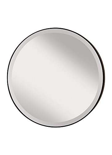 31tnP57dtQL - Feiss MR1127ORB Rounded 28.5 inch Diameter Mirror, Oil Rubbed Bronze
