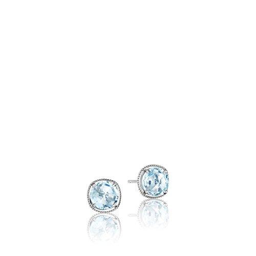 Tacori SE15402 Island Rains Sterling Silver Sky Blue Topaz Stud Earrings ()