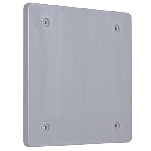 Hubbell-Bell PBC200GY Weatherproof Nonmetallic Device Cover, Blank, 2-Gang, (Two Gang Blank Cover)