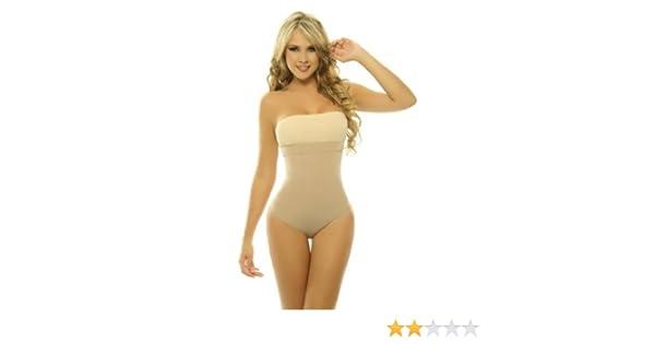 4b470b78bcf9c Amazon.com  Women s Body Shapers Lycra-Nylon Body Braless Strapless Thong  Type Corset Faja  Health   Personal Care