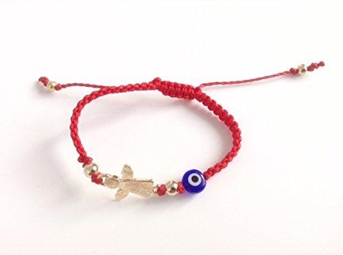 Mal de Ojo Guardian Angel Baby Protection Adjustable Red Bracelet (Guardian Angels Bracelet)