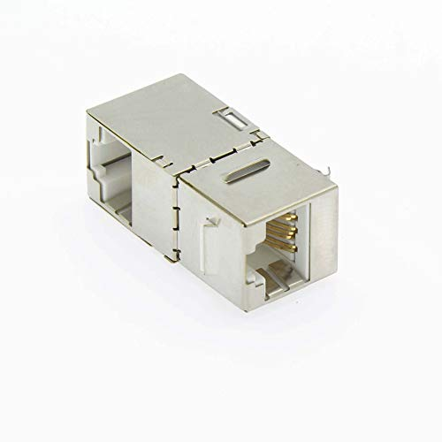 GOWOS Cat.5E STP Right Angle Keystone Coupler White