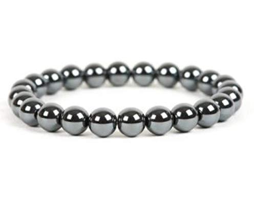 Turtledove Natural Semi Precious Gemstone Beaded Bracelet for Men & Women Stretchable Unisex Vintage Lucky Charm Stretch Bracelet 7.2