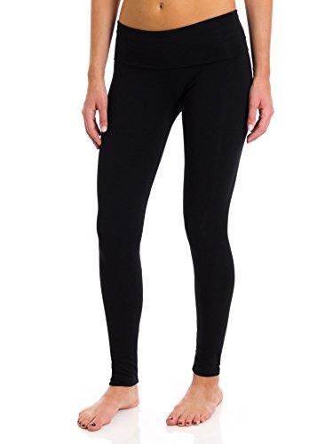 T Party Women's Folded Band Legging, Black, -