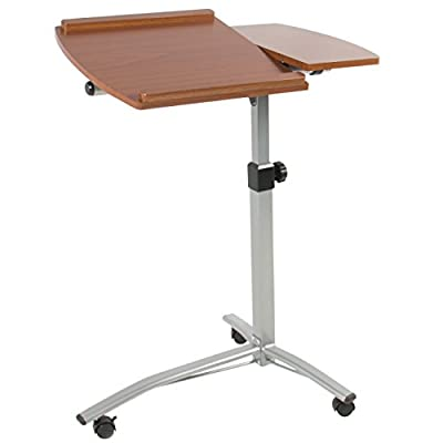 Best Choice Products Angle & Height Adjustable Rolling Laptop Desk Cart Over Bed Hospital Table Stand