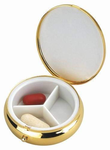 - Free Engraving Personalized Goldtone Pill Box