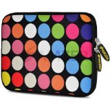 Amzer 10.5-Inch Designer Neoprene Sleeve Case Pouch for Tablet, eBook and Netbook - Dots Galore (AMZ5192105)