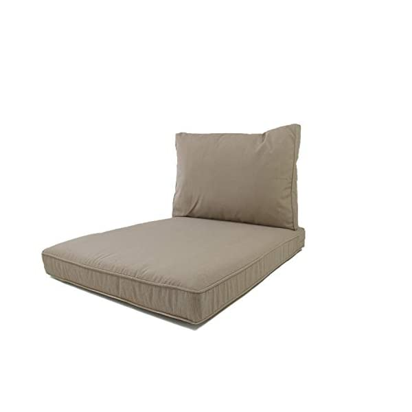 Coussins palette duo confort outdoor Nordje avec revê-tement hydrofuge, comprenant des coussins d'assise 120 x 80 cm et…