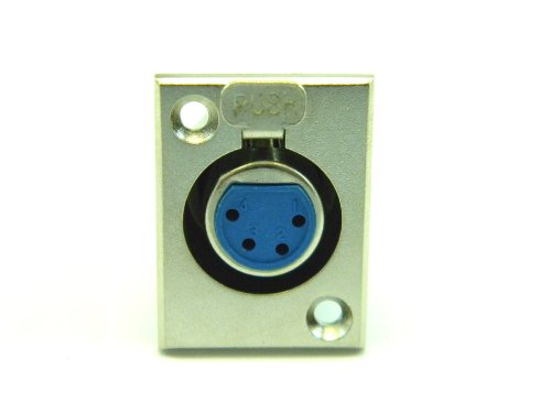FEMALE MICROPHONE CONNECTOR PANEL MOUNT 4 PIN (Xlr 4 Mount Panel Pin)