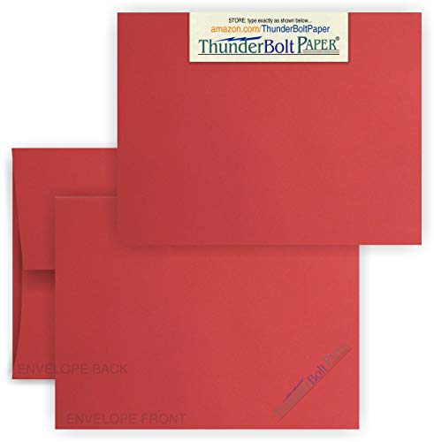 4X6 Blank Cards with A-6 Envelopes -Bright Apple Red - 25 Sets - White Labels for Envelopes - Matching Pack - Invitations, Greeting, Thank You, Notes, Holidays, Weddings, Birthdays, Announcements