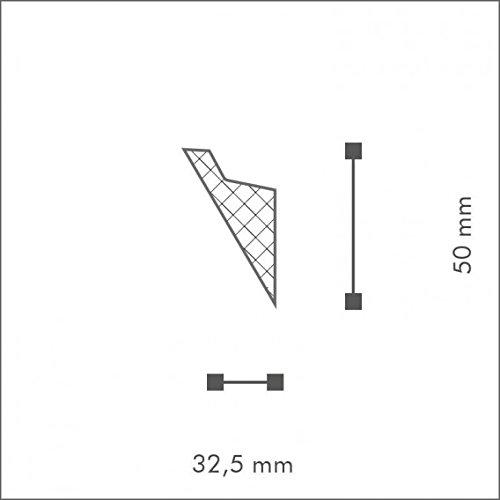 NMC Wallstyl Eckleiste IL4 Polystyrol HD