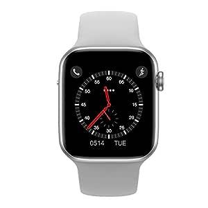 SHISI Inteligente Reloj 1,54 SCOMAS IWO 10 Lite (Color : White ...