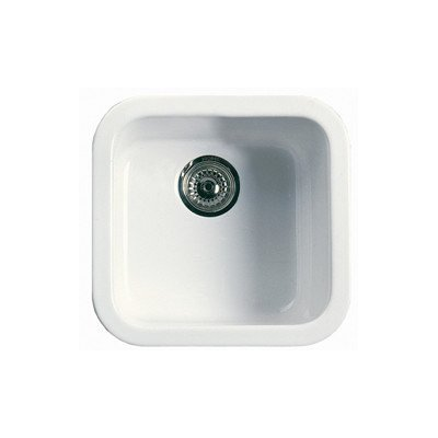 Rohl 17-7/8-Inch W by 17-1/2-Inch D by 9-Inch H Allia Single Bowl Bar or Prep Fireclay Kitchen Sink