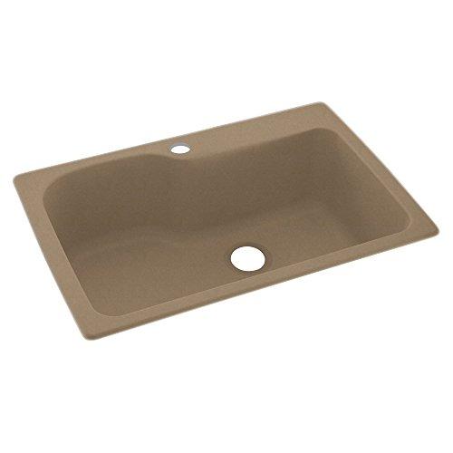 Swan SK366296.125 36-in L x 62-in W x 96-in H Solid Surface Shower Wall Kit, Cloud White - Kssb 3322 Kitchen Sink