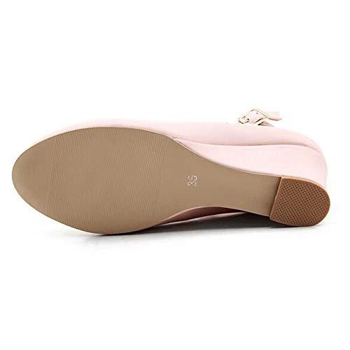 Heel Negro Poliuretano PU Black Comfort Blanco Heels ZHZNVX de Spring Wedge Mujer Zapatos IqaaFwPz