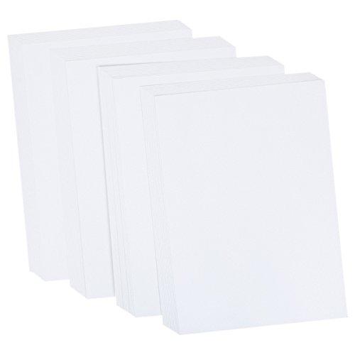 Crafter's Companion Centura - Biglietti formato A4, 50 pz, colore: bianco/argento, effetto perlato Crafter' s Companion CP-SNOWS-A4