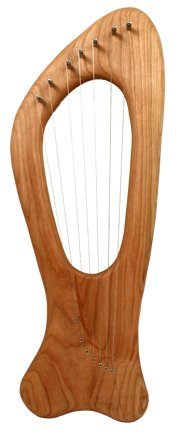 Meadow Lyre, Pentatonic, 7 String, Cherry w/ Storage & Accessory Bags by Eyster Lyre Company