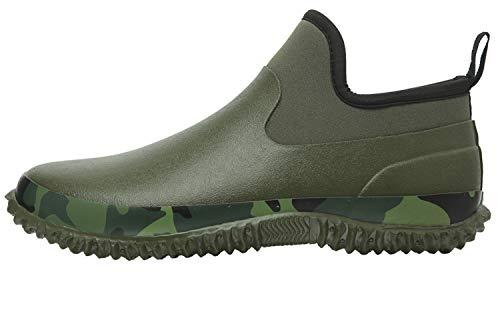 JOINFREE Unisex Low Top Rain Boots Rainy Wear Footwear Garden Shoes Army Green 9.5 M US Women/7.5 M US Men