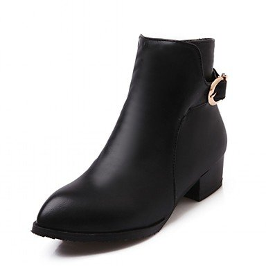 RTRY Women'S Boots Spring Fall Winter Comfort Novelty Patent Leather Leatherette Wedding Office &Amp; Career Dress Casual Party &Amp; Evening Low Heel US7 / EU39 / UK6 Big Kids mN4eHqo