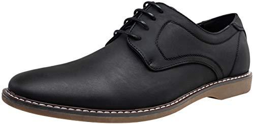 JOUSEN Men's Oxford Shoes Suede Plain Toe Dress Casual Shoes (10.5,Casual Dress-619-Black) (Best Shoes For Black Dress)