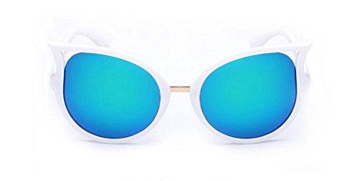 Pour Lunettes Style et Femmes Polarisées Steampunk Inspirées du Cercle Hommes Soleil Métallique Bleu en Vert Rond de Retro et S7HSB