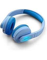 Philips Kids Draadloze on-ear-koptelefoon TAK4206BL/00 draadloze koptelefoon voor kinderen met Bluetooth met gelimiteerd volume, 28 uur afspeeltijd, kleurrijk ontwerp & lichtgewicht, blauw met lampjes