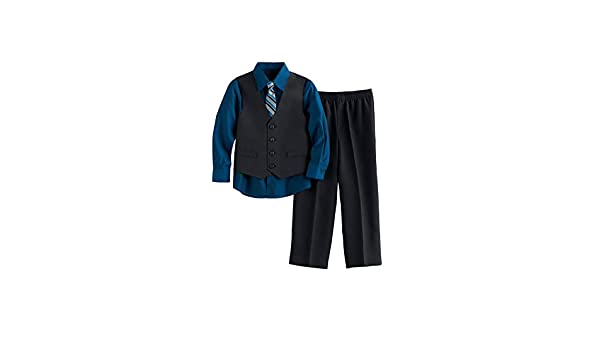 Deep Lagoon Van Heusen Boys 4-Pc Tattersal Vest Set