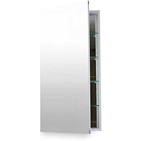 Flawless Bathroom MC 1640 Medicine Cabinet With Blum Soft Close Door Hinges 16 X 40 Anodized Aluminum