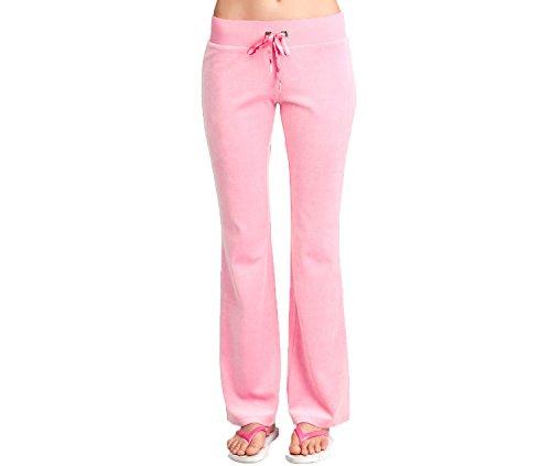 2B BEBE Women's Velour Velvet Track Pants Joggers Drawstring Pants Pretty in Pink (XS) (Baby Blush - Rhinestone Velour