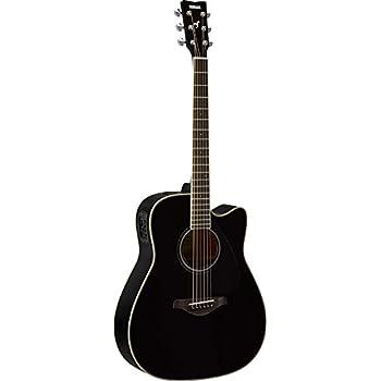yamaha fgx820c solid top cutaway acoustic electric guitar black musical instruments. Black Bedroom Furniture Sets. Home Design Ideas