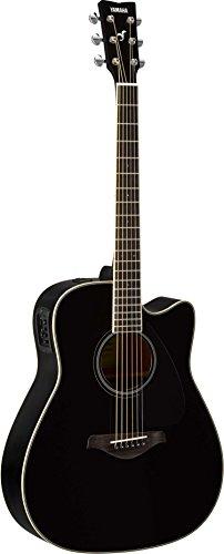 Mahogany Cutaway Guitar (Yamaha FGX820C Solid Top Cutaway Acoustic-Electric Guitar, Black)