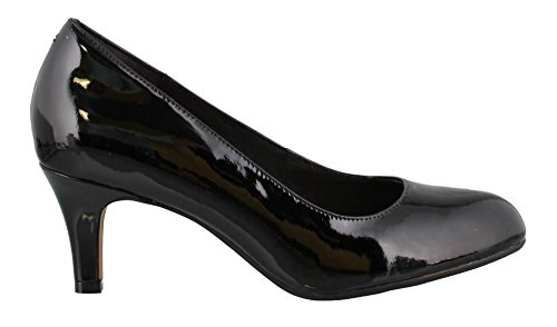 CLARKS Women's Heavenly Heart Dress Pump Shoes,Black Patent Leather,6