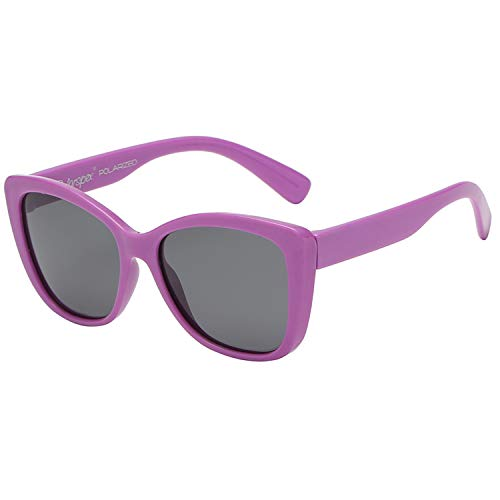 - Polarspex Girls Elastic Kids Toddler Polarized Cat Eye Sunglasses - BPA Free (Lavender Purple | Polarized Smoke, Toddler)
