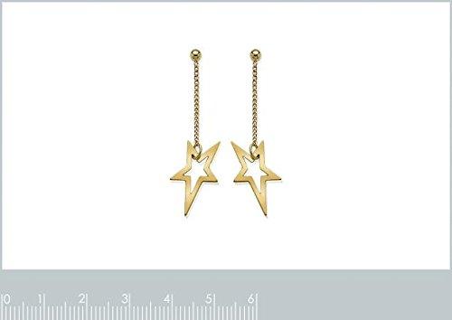 ISADY - Amélie Gold - Boucles d'oreille - Plaqué or jaune 18K - Pendantes - étoiles