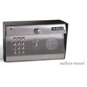 Doorking Telephone Entry - Doorking Residential Telephone Entry System Flush Mount with Stainless Face Plate