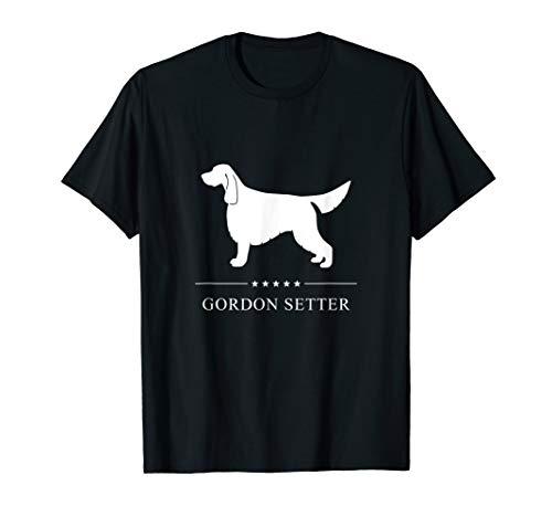 Gordon Setter : White Silhouette T-Shirt (Gordon Setter Silhouette)