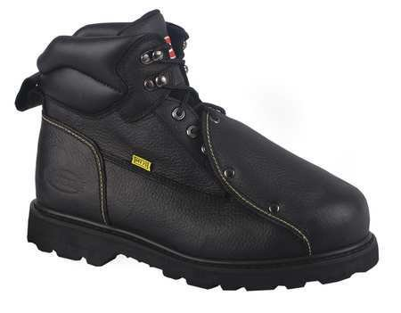 Work Boots, Stl Toe, Met Guard, 7, - Stl Boots Toe Black