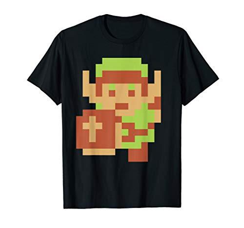 Nintendo Zelda Classic NES 8-Bit Pixelated Link T-Shirt, Adult or Kids