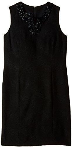- Jones New York Women's Sleeveless V-Neck Sheath Dress, Black 10