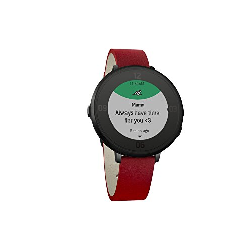 Pebble Time Round 14mm Smartwatch for Apple/Android Devices - Black/Red by Pebble Technology Corp (Image #2)