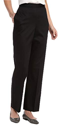 Alfred Dunner Women's Short City Life Pull on Pant, Black (10 Short) (Alfred Dunner City Life Pull On Pants)