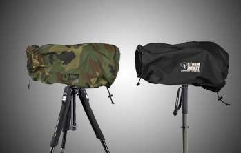 Vortex Media Pro Storm Jacket Cover for an SLR Camera with a Large Lens Measuring 14'' to 23'' from Rear of Body to Front of Lens, Color: Camo