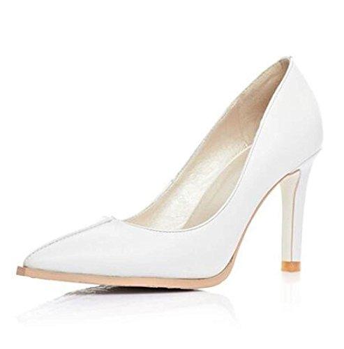 Frauen Spitz Stilettos High Heel Slip On Kleid Pumps Gericht Schuhe Hochzeit Brautschuhe