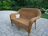 Oakland Living Resin Wicker Loveseat, Natural Review