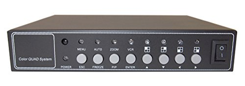 Evertech Office Home Analog Video Security Camera Cctv Color Quad Splitter Processor 4 Channel/Port (4 Camera) Real Time with REMOTE Controll by Evertech (Image #4)