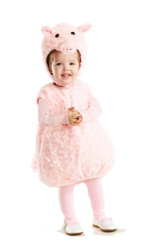 Miss Piggy Infant Costumes (Underwraps Baby's Piglet Belly-Babies, Pink, Medium)